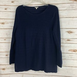 Talbots Factory Navy Blue Sweater XL Bell Sleeves